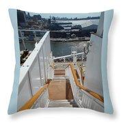 Shipboard Stairways Throw Pillow