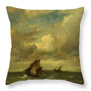 Shipping In A Breeze Throw Pillow
