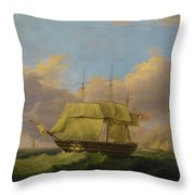 Shipping Off The Eddystone Throw Pillow