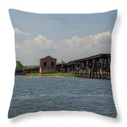 Shipping Terminal Throw Pillow