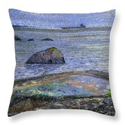 Ships And Stones Throw Pillow