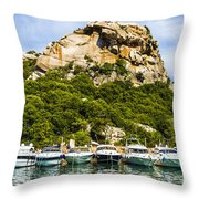 Ships Collection To Italian Harbor Throw Pillow