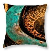 Ship's Compass Throw Pillow