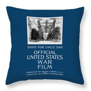 Ships For Uncle Sam - Ww1 Throw Pillow