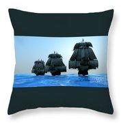 Ships In Sail Throw Pillow