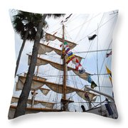 Ships Palm Throw Pillow