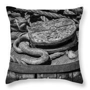Ships Rope And Pully Throw Pillow