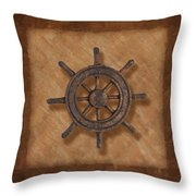 Ship's Wheel Throw Pillow