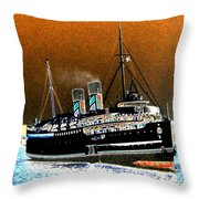 Shipshape 4 Throw Pillow