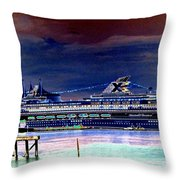 Shipshape 5 Throw Pillow