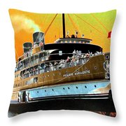 Shipshape 6 Throw Pillow