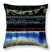 Shipshape 8 Throw Pillow by Will Borden