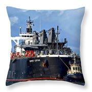 Port Of Amsterdam Throw Pillow