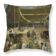 Shipyard Society Throw Pillow