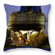 Shipyard Work Throw Pillow