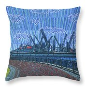 Shipyards A Newport News Throw Pillow