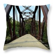 Shirley Railroad Bridge 1 Throw Pillow
