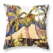Shirley Russell Art Throw Pillow