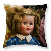 Shirley Temple Doll Throw Pillow