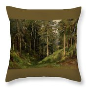Shishkin, Ivan 1832-1898 Forest Clearing Throw Pillow