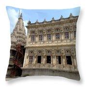 Shiv Mandir And Its Mandap At Shinde Chattri, Pune Throw Pillow