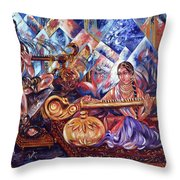 Shiva Parvati Throw Pillow