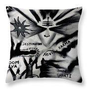 Shiva Power Throw Pillow