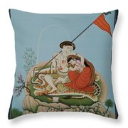 Shiva Romancing With Parvatti. Throw Pillow