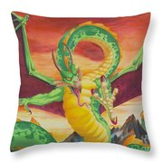 Shivan Dragon 3.0 Throw Pillow