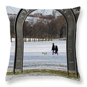 Shobnall Fields - Arch Sign Throw Pillow