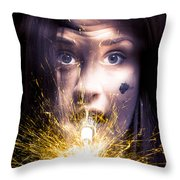 Shocked Throw Pillow