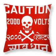 Shocking Throw Pillow