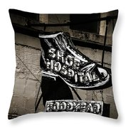 Shoe Hospital Throw Pillow