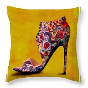 Shoe Illustration 1 Throw Pillow