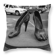 Shoe Sculpture Grand Junction Co Throw Pillow