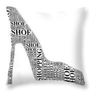 Shoe Shopping Throw Pillow