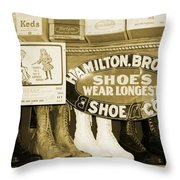 Shoe Shopping In The 30's Throw Pillow
