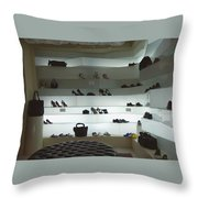 Shoe Store After Hours - Venice, Italy Throw Pillow