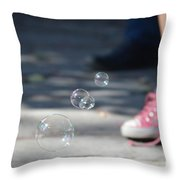 Shoelace In Springtime Throw Pillow