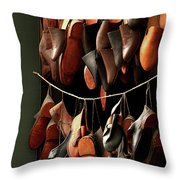 Shoemaker Shop In Colonial Williamsburg Throw Pillow