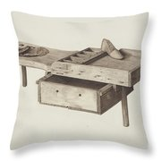 Shoemaker's Bench Throw Pillow
