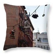 Shoes In The Sky Throw Pillow