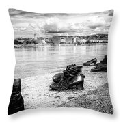 Shoes On The Danube Memorial Throw Pillow