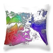 Shoot For The Sky Cool Rainbow 3 Dimensional Throw Pillow