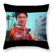 Shoot Out On Ocean Drive Throw Pillow