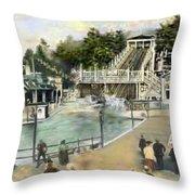 Shoot The Chutes.1907 White City   Throw Pillow