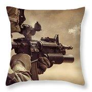Shooter Throw Pillow