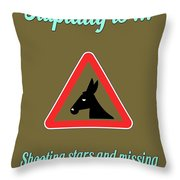 Shooting Bigstock Donkey 171252860 Throw Pillow