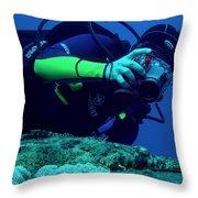 Shooting Crokfish Throw Pillow