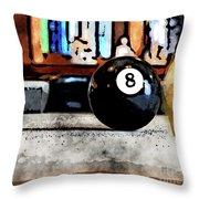 Shooting For The Eight Ball Throw Pillow